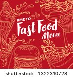 vector cover for fast food menu ...   Shutterstock .eps vector #1322310728