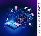 smart home control concept.... | Shutterstock .eps vector #1322314022