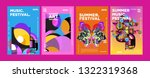 summer colorful art and music... | Shutterstock .eps vector #1322319368