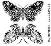 beautiful hand drawn vector... | Shutterstock .eps vector #1322339195