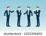 business team celebrating | Shutterstock .eps vector #1322346602