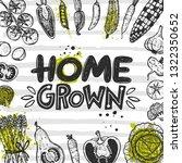 home grown. hand lettering...   Shutterstock .eps vector #1322350652