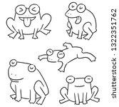 vector set of frog   Shutterstock .eps vector #1322351762