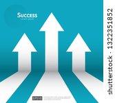 business arrow target direction ...   Shutterstock .eps vector #1322351852