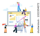 people are working to increase... | Shutterstock .eps vector #1322354072
