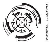 futuristic target icon. simple...