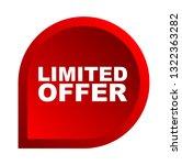 red vector banner limited offer | Shutterstock .eps vector #1322363282