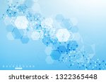 structure molecule and... | Shutterstock .eps vector #1322365448