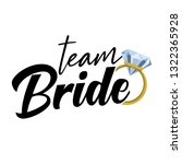 team bride with golden ring and ... | Shutterstock .eps vector #1322365928