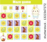 easter activity for kids. maze... | Shutterstock .eps vector #1322367272