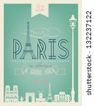 typographical retro style... | Shutterstock .eps vector #132237122