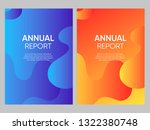 set of modern brochure  annual... | Shutterstock .eps vector #1322380748