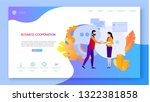 business cooperation. people...   Shutterstock .eps vector #1322381858