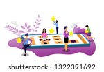 vector illustration people rate ... | Shutterstock .eps vector #1322391692