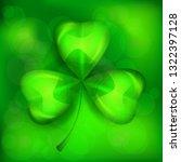 saint patricks clover leaf or... | Shutterstock .eps vector #1322397128