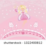 beautiful fairy with magic wand ... | Shutterstock .eps vector #1322400812