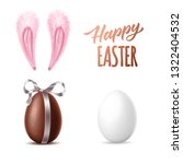 happy easter design collection. ... | Shutterstock .eps vector #1322404532