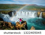 the godafoss  icelandic ... | Shutterstock . vector #1322405045
