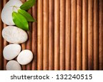 massage stones with green... | Shutterstock . vector #132240515