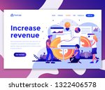 landing page template of... | Shutterstock .eps vector #1322406578