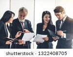 senior caucasian manager... | Shutterstock . vector #1322408705