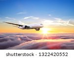 passengers commercial airplane... | Shutterstock . vector #1322420552