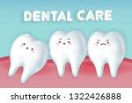 cute cartoon wisdom teeth with... | Shutterstock .eps vector #1322426888
