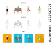 isolated object of posture and...   Shutterstock .eps vector #1322427308