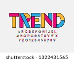 vector of stylized modern font... | Shutterstock .eps vector #1322431565