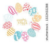 easter eggs. happy easter.... | Shutterstock .eps vector #1322432288