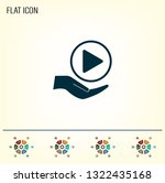 play button web icon  flat... | Shutterstock .eps vector #1322435168