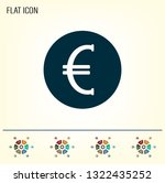 euro badge in black circle ... | Shutterstock .eps vector #1322435252