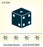 cubes for the game vector icon. | Shutterstock .eps vector #1322435285