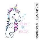 sweet seahorse illustration... | Shutterstock .eps vector #1322435978