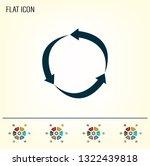 arrow circle icon   cycle  loop ... | Shutterstock .eps vector #1322439818