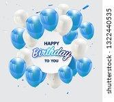 happy birthday vector...   Shutterstock .eps vector #1322440535