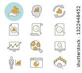 data analysis flat line icons.... | Shutterstock .eps vector #1322448452