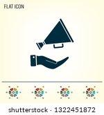 megaphone vector icon | Shutterstock .eps vector #1322451872