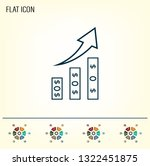 infographics on the stand ... | Shutterstock .eps vector #1322451875