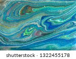 blue and gold marbling pattern. ... | Shutterstock . vector #1322455178
