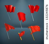 red flags  vector icon set | Shutterstock .eps vector #132245876