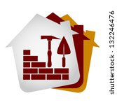 construction of houses and... | Shutterstock .eps vector #132246476
