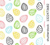 easter seamless pattern with... | Shutterstock .eps vector #1322473682