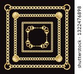 golden squared chains pattern... | Shutterstock .eps vector #1322476898
