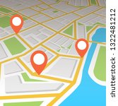 city map with navigation.... | Shutterstock .eps vector #1322481212