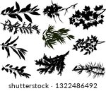 illustration with black... | Shutterstock .eps vector #1322486492