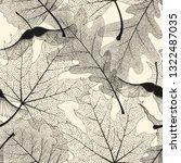 high detail skeleton leaf... | Shutterstock .eps vector #1322487035