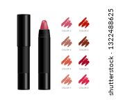 lipstick package. cosmetic... | Shutterstock .eps vector #1322488625