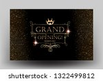 grand opening card with golden... | Shutterstock .eps vector #1322499812