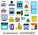 kitchen appliance simple flat... | Shutterstock .eps vector #1322506805